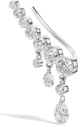 Maria Tash Curved Crescendo Bar Invisible Set Diamond Right Ear Climber (18Mm)