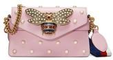 Gucci Mini Broadway Leather Shoulder Bag - Pink