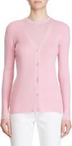 Ralph Lauren Fitted Silk Cardigan Sweater, Pink