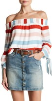 Lovers + Friends Off-the-Shoulder Striped Blouse