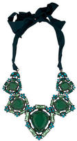 Lanvin Green Crystal Collar Necklace