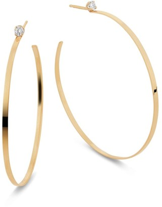 Lana Sunrise Diamond Hoop Earrings