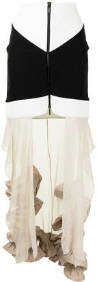 Maticevski Frelate tiered skirt