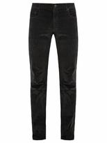 Prada Slim-leg cotton-velvet trousers
