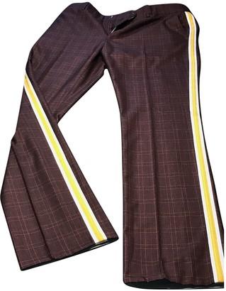 Calvin Klein Burgundy Wool Trousers