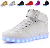 Anluke Kid Boys Girls 11 Colors Led Sneakers Light Up Flashing Shoes For Halloween ( / EU 35 )