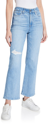 Paige Ately Mid-Rise Ankle Flare Jeans