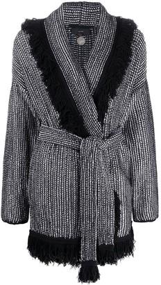 Alanui Fringed Belted Cardi-Coat