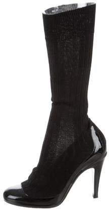 Chanel Patent Sock Boots