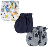 "Luvable Friends Baby Boys' ""Star Variety"" 3-Pack Scratch Mittens"