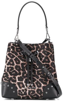 MICHAEL Michael Kors leopard print drawstring shoulder bag
