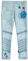 Terez Girls' Faux Denim Moto Leggings - Little Kid