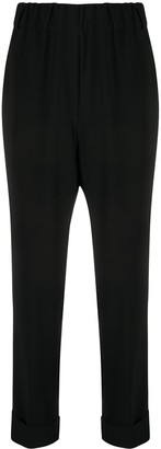 Brag-wette High-Waisted Tapered Trousers