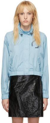Opening Ceremony Blue Cropped Baby Wind Jacket