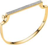 Monica Vinader Signature 18ct yellow-gold vermeil and diamond bangle