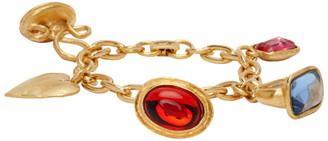 MONDO MONDO Gold Lion Fob Charm Bracelet