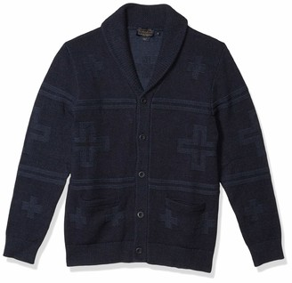 Pendleton Men's Cross Motif Cardigan Sweater