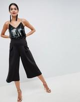 Asos Design DESIGN Scuba Pleated Culottes