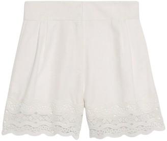 Sandro Paris Embroidered Shorts