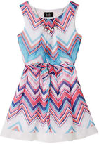 JCPenney BY AND BY GIRL by&by Girl Sleeveless Chevron Chiffon Dress - Girls 7-16
