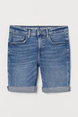 H&M Generous Fit Denim Shorts