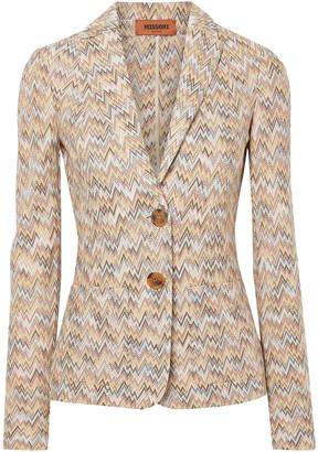 Missoni Crochet-knit Wool Blazer