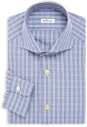 Kiton Contemporary-Fit Plaid Dress Shirt