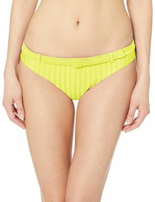 Bikini Lab Women's Skimpy Faux Belted Hipster Bikini Swimsuit Bottom