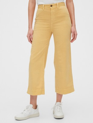Gap High Rise Wide-Leg Crop Khakis