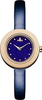 Vivienne Westwood Women's Edge Night Quartz Analogue Display Watch with Blue Dial and Navy Leather Strap VV097NVNV