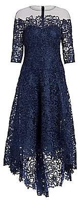 Teri Jon by Rickie Freeman Women's Floral Lace A-Line Dress