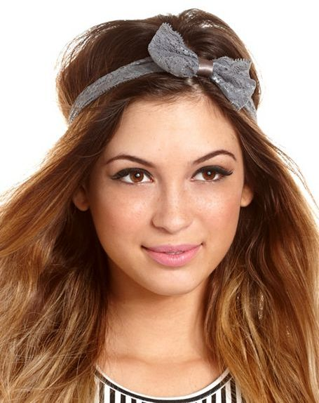 Charlotte Russe Floral Lace Bow Headwrap