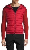 Moncler Quilted Hooded Sweater Jacket