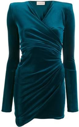 Alexandre Vauthier draped v-neck mini dress