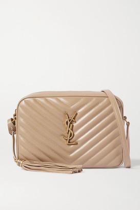 Saint Laurent Lou Medium Quilted Leather Shoulder Bag - Beige