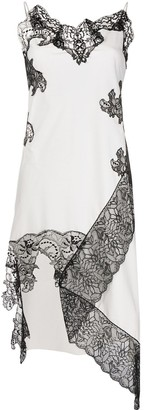 Marques Almeida Asymmetric Lace Slip Dress