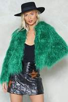 Nasty Gal Fur All the World Faux Fur Coat
