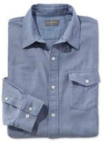 L.L. Bean Signature Herringbone Twill Shirt, Long-Sleeve