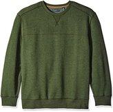 G.H. Bass & Co. Men's Big and Tall Mountain Long Sleeve Fleece Crew Sweater