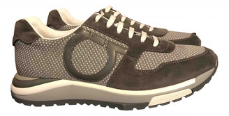 Salvatore Ferragamo Grey Leather Trainers