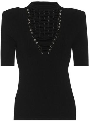 Balmain Ribbed-knit top
