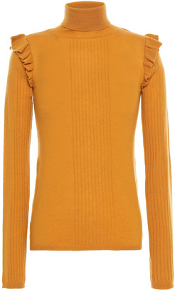 By Ti Mo Ruffle-trimmed Wool Turtleneck Sweater
