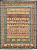 Land of Gabbeh Rugs Modern Contemporary Persian Design Blue 12' x 16' FT Area Rug - Perfect for any Home Décor - Living Room / Dinning Room / Play Room / Bedroom / Kids Room