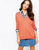 Esprit V Neck Knitted Sweater