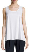 Lafayette 148 New York Sleeveless Swing Tank, White