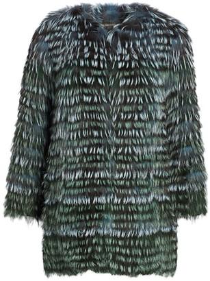 Zac Posen For The Fur Salon Collarless Fox Fur Jacket