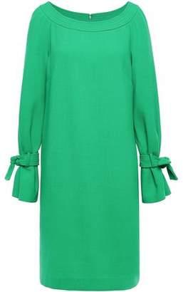 Lela Rose Tie-detailed Wool-blend Crepe Dress