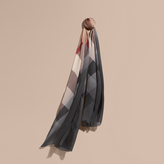 Burberry Ombré Washed Check Silk Scarf