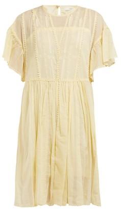 Etoile Isabel Marant Annaelle Embroidered Cotton Mini Dress - Womens - Light Yellow