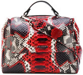 Orciani patterned boxy tote - women - Leather - One Size
